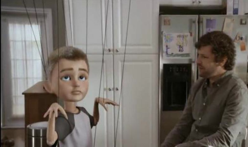 What's with the wire puppets?